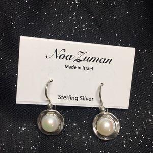 NWT Noa Suman Sterling Silver Pearls Earrings